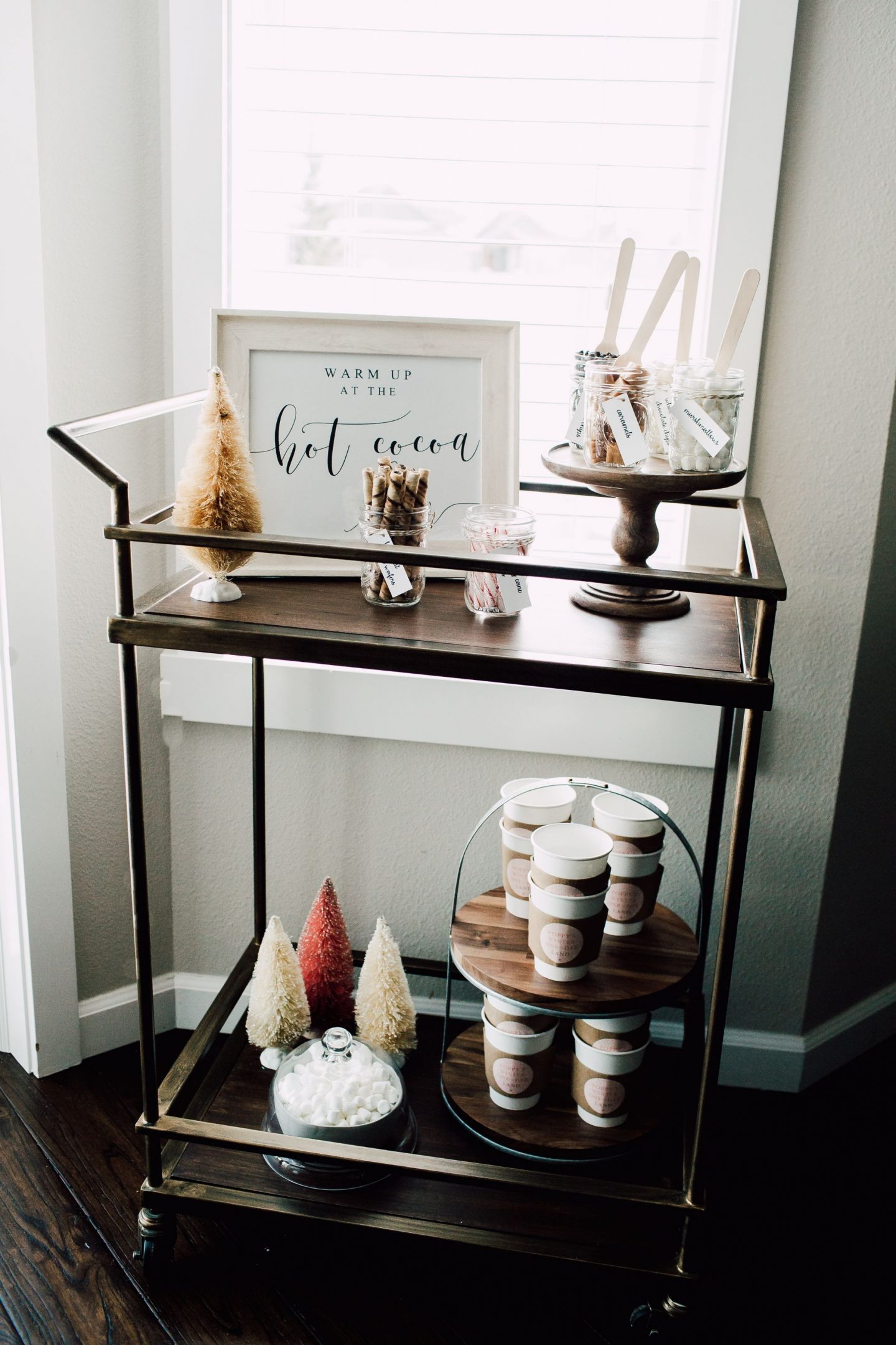 winter onederland hot cocoa bar