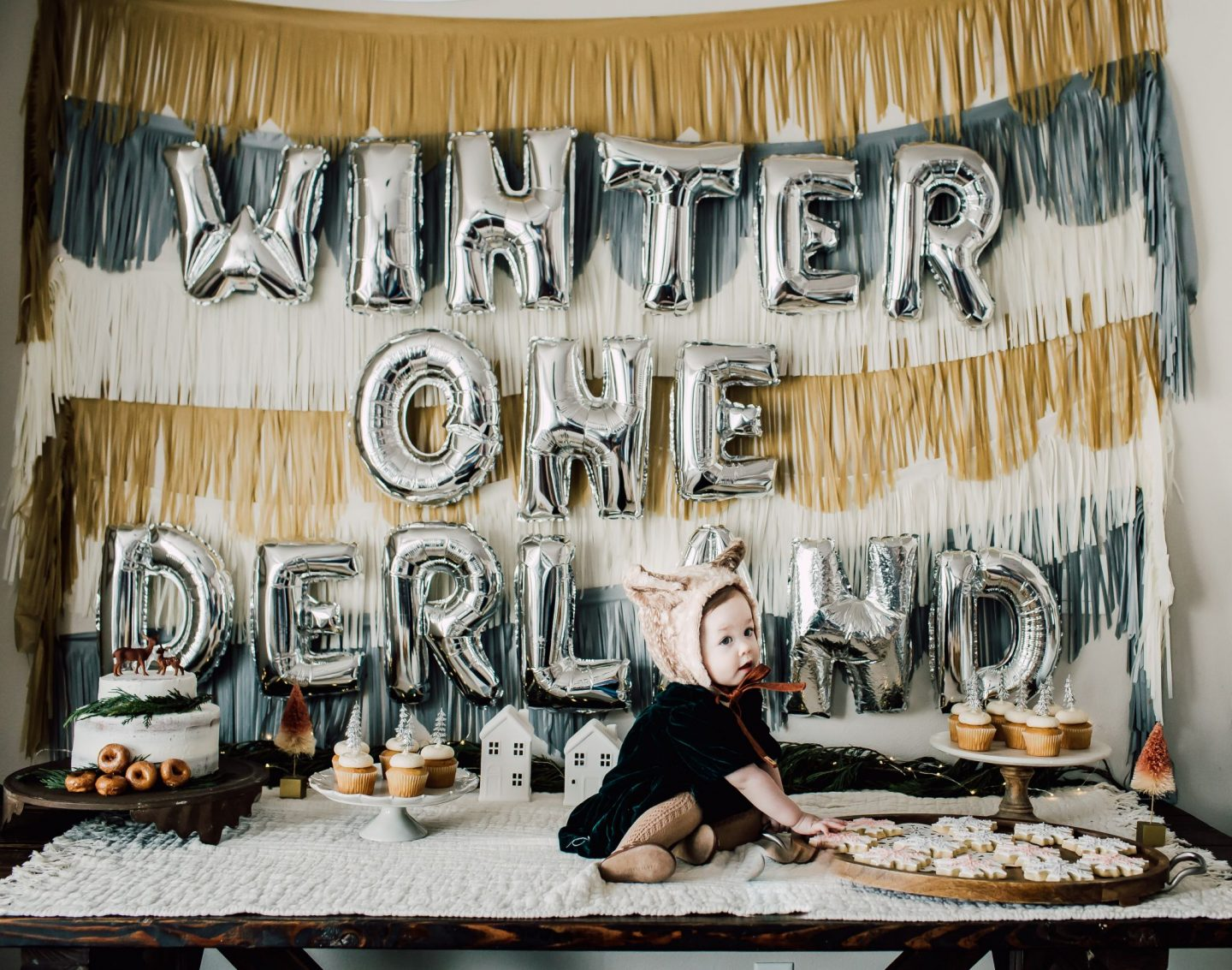 cute winter onederland party