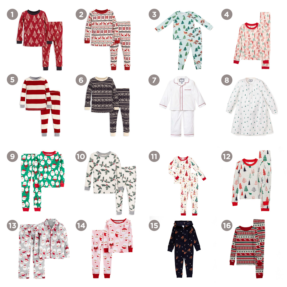 cute and cozy holiday pajamas for kids