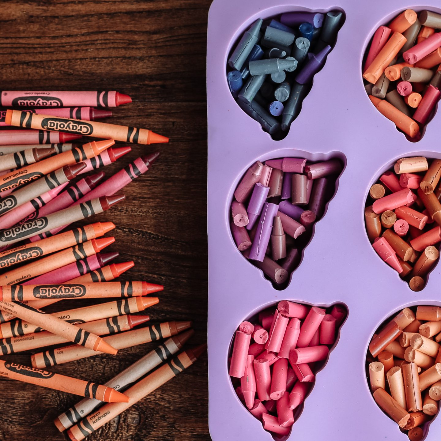 diy crayons using silicone molds